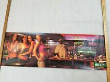 Mickey's Fine Malt Liquor 2000 Poster 13x39 In