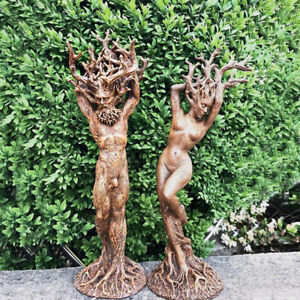Forest Goddess Statue Resin Ornaments Garden Handicraft Tree God Ornament Decor