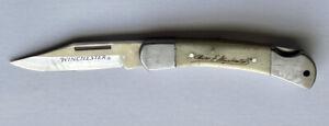 Oliver F. Winchester Very Nice Bone Handle Folding Pocket Knife Lockback 1 Blade