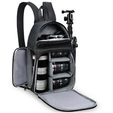NEW D15 Sling Camera Backpack SLR Bag Fit For Canon Nikon Sony Pentax Leica DSLR