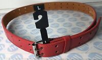 """92cm LONG FITS 27""""-32"""" STRONG BUCKLE WHITE SKINNY LEATHER BELT SIZE S 18mm"""