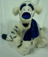 "Disney Winnie the Pooh WINTER WHITE & BLUE TIGGER 12"" Plush STUFFED ANIMAL Toy"