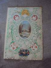 Antique Early Die Cut Paper Lace Embossed Envelope Valentine Card Mid 19th cent