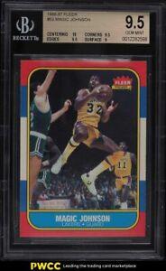 1986 Fleer Basketball Magic Johnson #53 BGS 9.5 GEM MINT