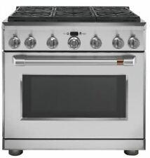 "Ge Cafe Cgy366P2Ms1 36"" Natural Gas Professional Range w/ 6 Burners 6.2 Cu Ft"
