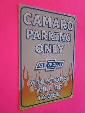 tin metal decor gas oil dealer garage repair shop advertising petroleum camaro