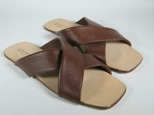 A.Testoni Men sandals brown DEER leather 9 US/ 8 UK new