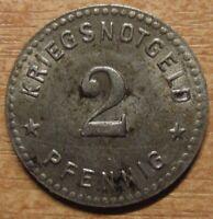 Germany Notgeld (Token) Gotha 2 pfennig 1919 Iron High grade!