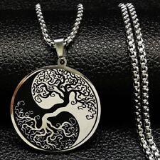 Halskette  Edelstahl Baum des Lebens Lebensbaum Glücksbringer Damen Yin Yang