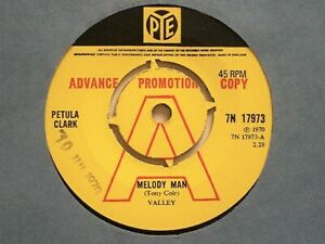"PETULA CLARK - MELODY MAN - 7"" VINYL - YELLOW PYE LABEL + SLEEVE - DEMO COPY"