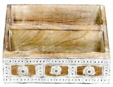 25.5 X 18 Carved Wooden Daisy Letter Rack
