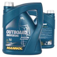 4 Liter MANNOL OUTBOARD Universal 2-Takt Bootsöl Jet Ski Außenborder Öl Mischöl