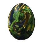 Lava Dragon Egg Dinosaur Resin Statue Crystal Souvenir Collection Gift Lava Base