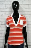 TOMMY HILFIGER S Maglia Donna Manica Corta Bianco Polo Camicia Shirt Jersey