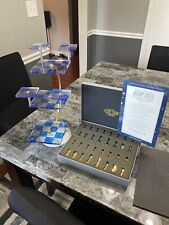 Vintage Star Trek 3D Tridimensional Chess Set 32 Pieces Franklin Mint