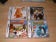 GARFIELD 2 + G-FORCE + SURF`S UP + BARNYARD... DS / 2DS / 3DS GAMES