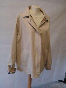 Burberrys London Vintage Classic Nova Check Lined Jacket ~Size UK 16/18~