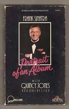 FRANK SINATRA PORTRAIT OF AN ALBUM 1985 MGM/UA Home Video BIG Box flip door! vhs