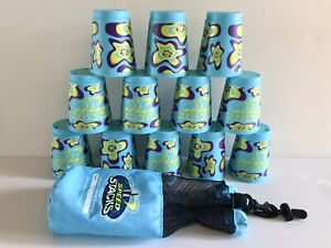 Speed Stacks Stacker Cups Game (12 Pcs Flower Print w/ Carry Case) Official WSSA