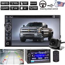 2Din Car Stereo DVD HD FM/AM USB Player Radio w/ Camera For Chevrolet Silverado