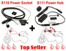 GIVI S110 Power Socket Bordstromsystem + S111 USB Power Hub Stromversorgungs Set