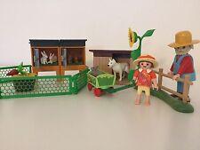 PLAYMOBIL Coniglio Porcellino, Cane Kennel & Dog, contadino, Ragazza & carrello Fattoria Zoo per bimbi