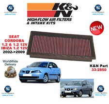 FOR SEAT CORDOBA IBIZA K&N HIGH FLOW AIR FILTER 2002->2009 ORIGINAL K&N BOXED