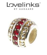Genuine LOVELINKS 925 sterling silver & crystal RED SOFTLY CRYSTAL CHARM BEAD