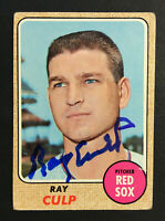 Ray Culp Red Sox signed 1968 Topps baseball card #272 Auto Autograph