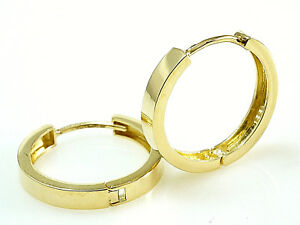 333 Gold Scharnier Creolen   Grösse  16,8 x 2,7 mm    1 Paar