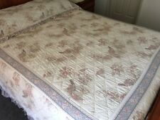 BEDSPREAD / QUILT QUEEN BED SIZE with PILLOWCOVER –SHERIDAN BRAND RARE AUST.MADE