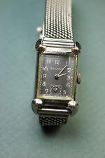 BULOVA deco men's wristwatch/watch 10K gold filled w/unusual mesh Kreisler band