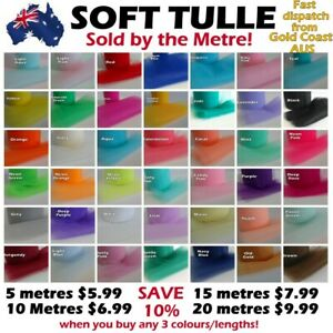 Tulle Fabric SOLD BY METRE Wedding Tutu Craft Soft Polyester Wedding Netting
