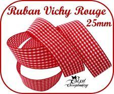 Vichy arcs Pack de 10//100 Pre-tied School Cheveux Mariage Artisanat