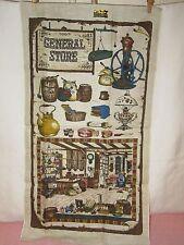 Vintage KAY DEE HAND PRINTS General Store Linen Towel - NOS
