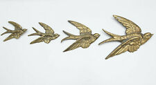 More details for set of 4 vintage brass swallows