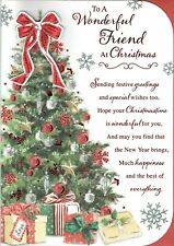 To A Wonderful FRIEND - Quality Large Christmas Card Tree Design