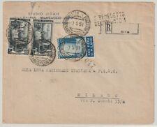 ITALIA 9.5.1951 Busta raccomandata per Milano con L.55 Fiera di Milano  / P26943