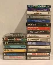 Vintage Cassette Tapes Lot & Carrying Case Alternative New Wave Pop 80s Rock