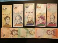 SET OF 8 UNCIRCULATED VENEZUELA BOLIVARES SOBERANO 2018