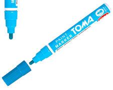 Blu chiaro permanente a base di olio penna per vernice auto bici gomma metallo Marker IMPERMEABILE