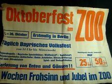 1. Oktoberfest im ZOO 1949 Giraffe Plakat Poster Werbung Affiche poster print