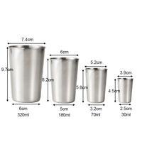 Stainless Steel Metal Beer Cup Wine Cups Coffee Tumbler Tea Milk Mugs Home HOT X