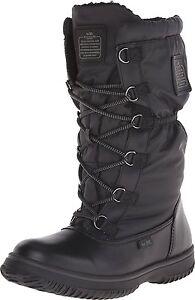 Coach Sage Nylon/Leather Cold Weather Hiking Snow Boots Black 6.5 Nib