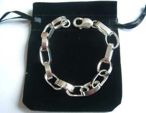 New 925 Sterling Silver Big Link 7.5 Inch Hallmarked Bracelet