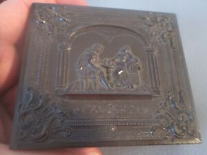 Antique  DAGUERREOTYPE of   WOMAN & YOUNG DAUGHTER  in FANCY UNION  CASE    #8