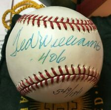 UDA TED WILLIAMS SS SIGNED BASEBALL .406 INSCRIPTION #/1941 OAL BALL AUTOGRAPH