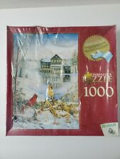 Perfalock Countryside Cardinals Jigsaw Puzzle 1000 Pieces Wrebbit Foam Back New!
