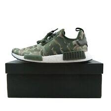 704a84cf3 Adidas NMD R1 Duck Camo Running Shoes Size 9.5 Sesame Base Green D96617