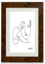 Girl & Bird Framed Print by Pablo Picasso